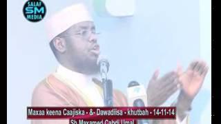 Waxa  Sababa Cajiska Iyo Dawadisa  By Sh M Cabdi Umal