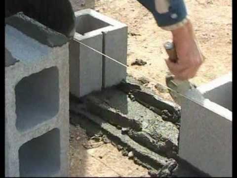 Bloques de hormig n colocaci n de los bloques aabh youtube - Como hacer un piso de hormigon lustrado ...