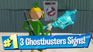 Place Ghostbuster Signs iฑ Holly Hedges, Dirty Docks, or Pleasant Park Location - Fortnite