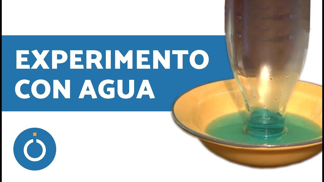 agua que sube por botella experimento viyoutube