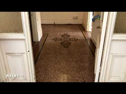 Terrazzo Floor Cleaning Cardiff | Before & After | CSB Floor Care