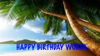Worda  Beaches Playas - Happy Birthday