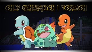 MINECRAFT PIXELMON   How to play with Generation 1 Pokemon ONLY!
