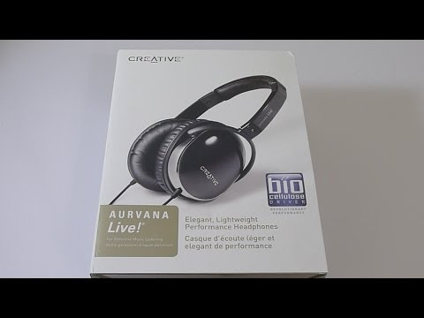 Creative Aurvana Live! Headphones Unboxing
