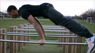 Street Workout - Forearm Bar Planche, Impossible Dip/ Victorian/ Maltese On P-bars