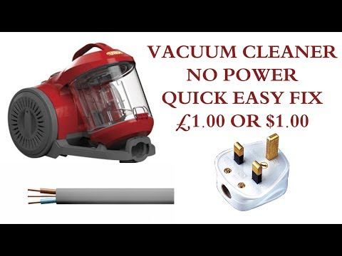 How To Fix A Vacuum That Won't Turn On  - Quick Easy Fix For Under £1.00 or $1.00
