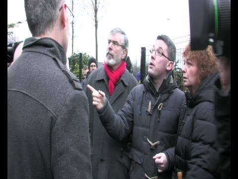 Gerry Adams TD visits Short Strand following yet another loyalist attack on the area