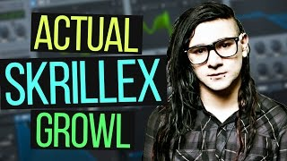 HOW TO MAKE AN ACTUAL SKRILLEX GROWL IN SERUM TUTORIAL (Free Preset)
