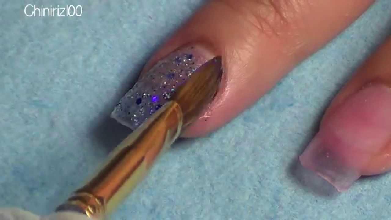 PersoNail Matte Polish and Glitter Acrylic Nail Design - YouTube