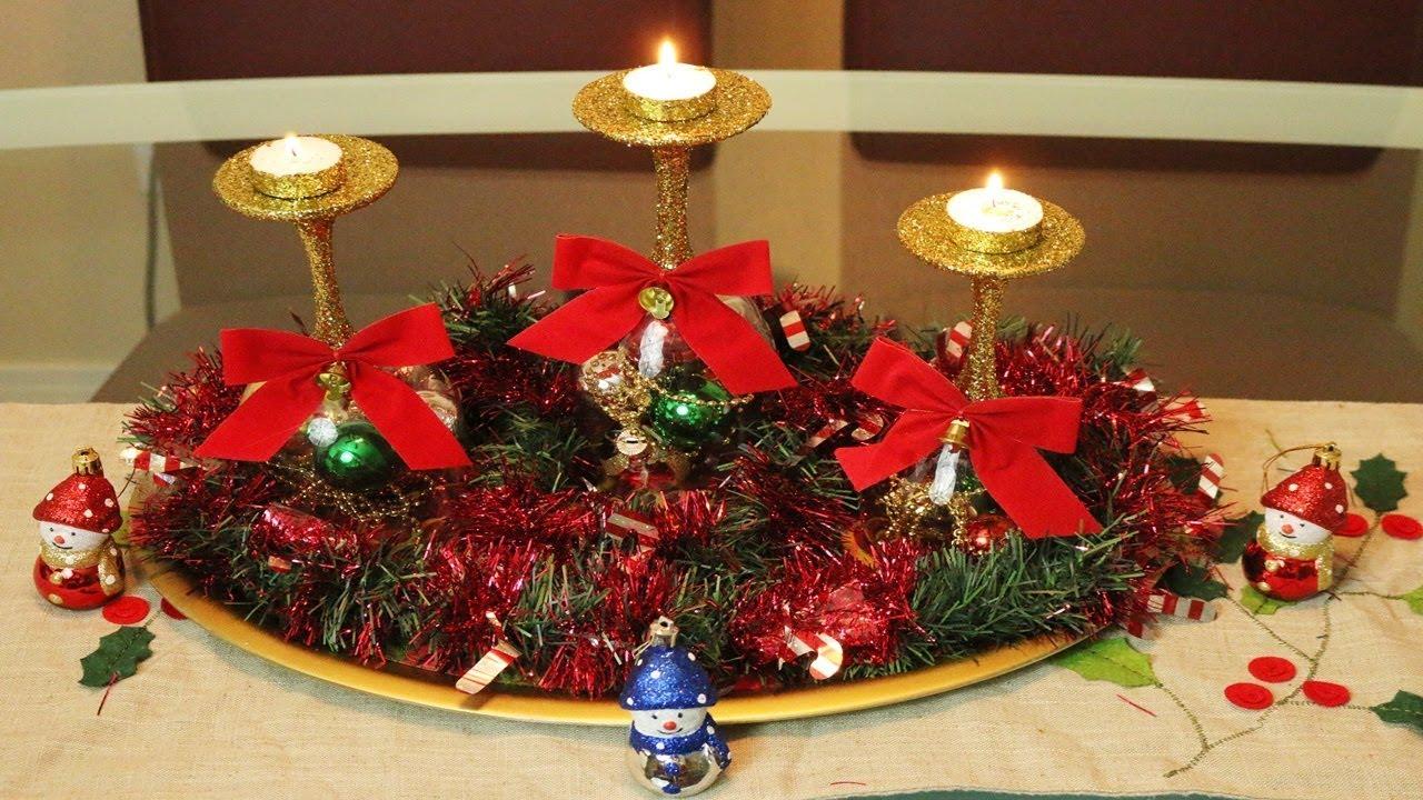 Como Hacer Centros De Mesa Para Navidad