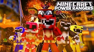 Minecraft Power Rangers Mod - POWER RANGERS MUST PROTECT THE CITY!
