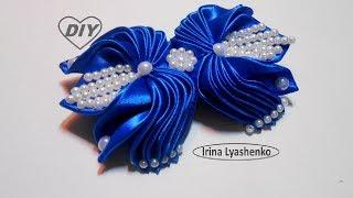 Бант из лент для торжества МК/DIY Elegant ribbon bow/PAP Laço de fita elegante#207
