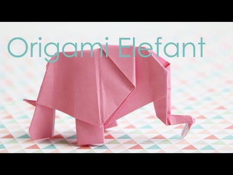 Favorit Origami Elefant - Anleitung - Talu.de - YouTube MO86