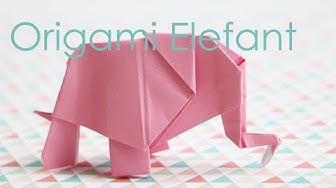Origami Elefant - Anleitung - Talu.de