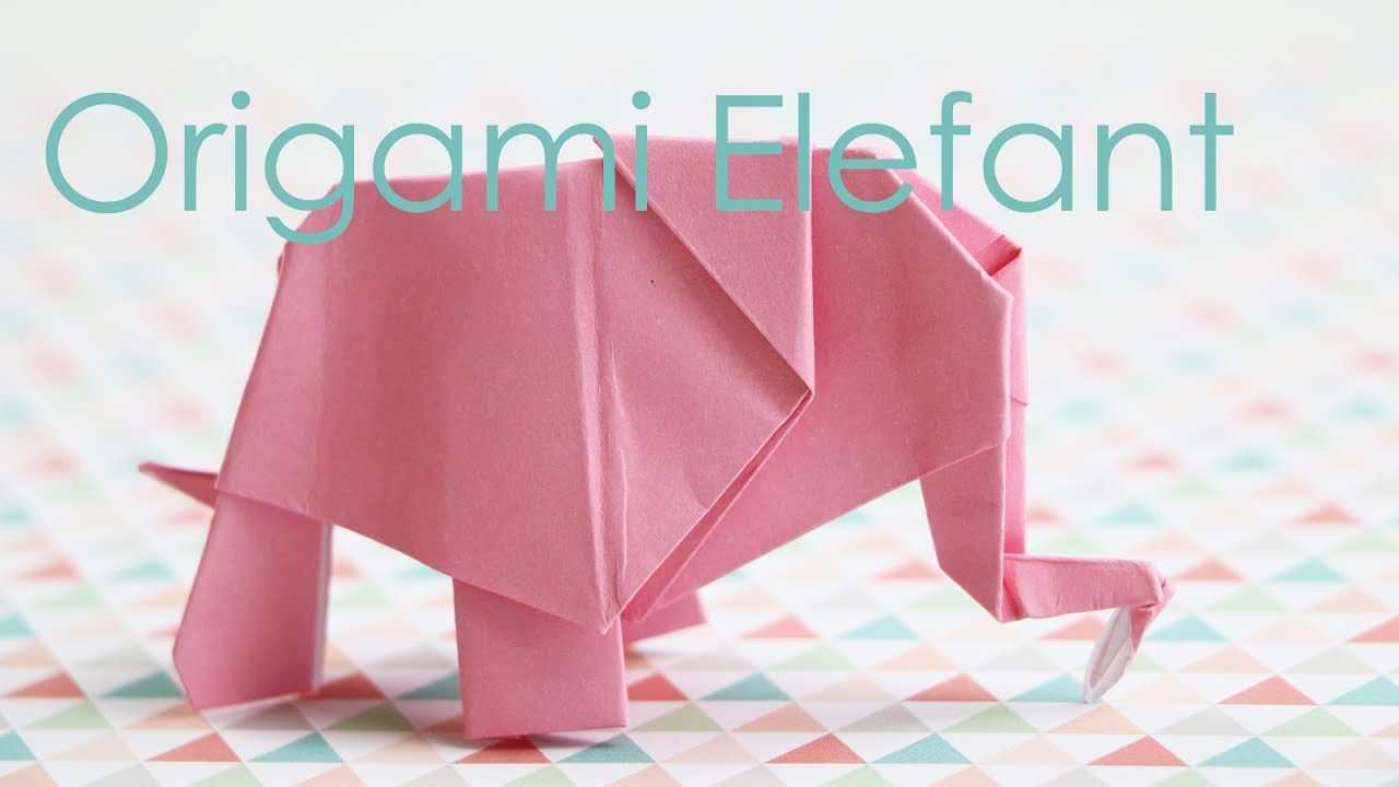 origami elefant anleitung youtube. Black Bedroom Furniture Sets. Home Design Ideas