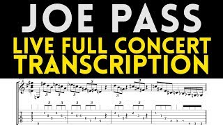 Joe Pass - Live In Concert 1991 Transcription (Solo Guitar)