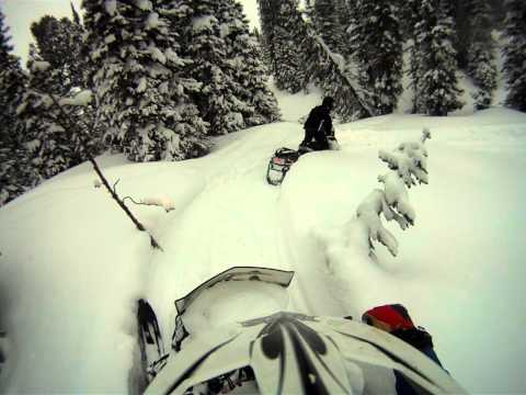 Lake County, SD Riders Find Powder in the Trees Cooke City 2012