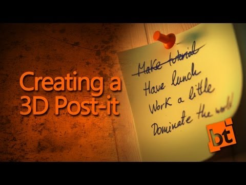 How to create a post-it in Blender