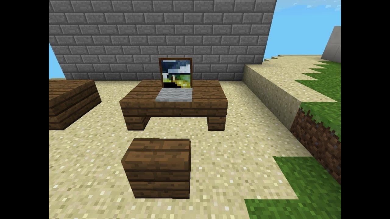 Minecraft Pe Laptop And Desk Tutorial YouTube