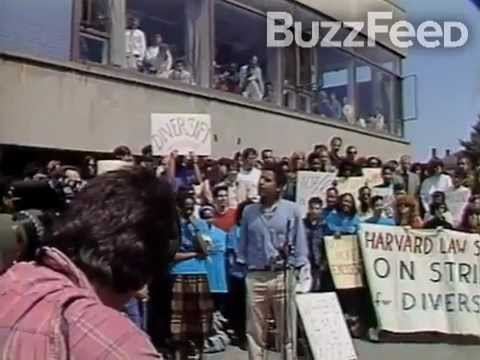 Young Barack Obama: Protest Speech at Harvard Law School in 1991