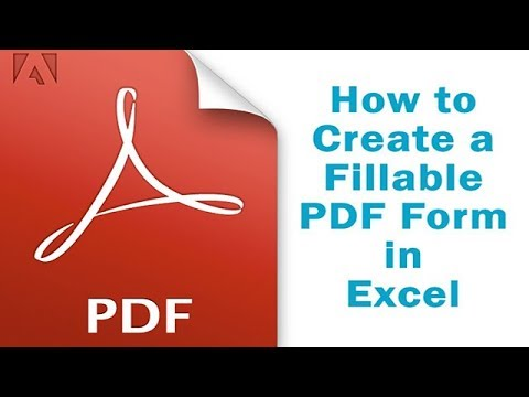 How to Create a Fillable PDF Form in Excel - YouTube
