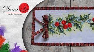 Trilho Natalino – Pintura em tecido