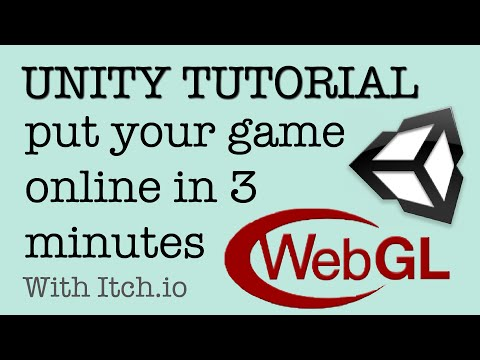 Uploading WebGL From Unity To Itch.io