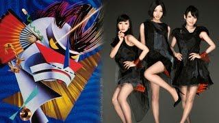 ライディーンのレコードジャケットのロボットの色合いと、Perfumeの衣装...