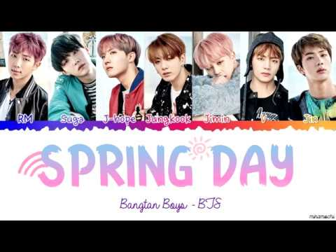 Free Download Bts (방탄소년단) 'spring Day' (봄날) Lyrics [color Coded Han_rom_eng] Mp3 dan Mp4