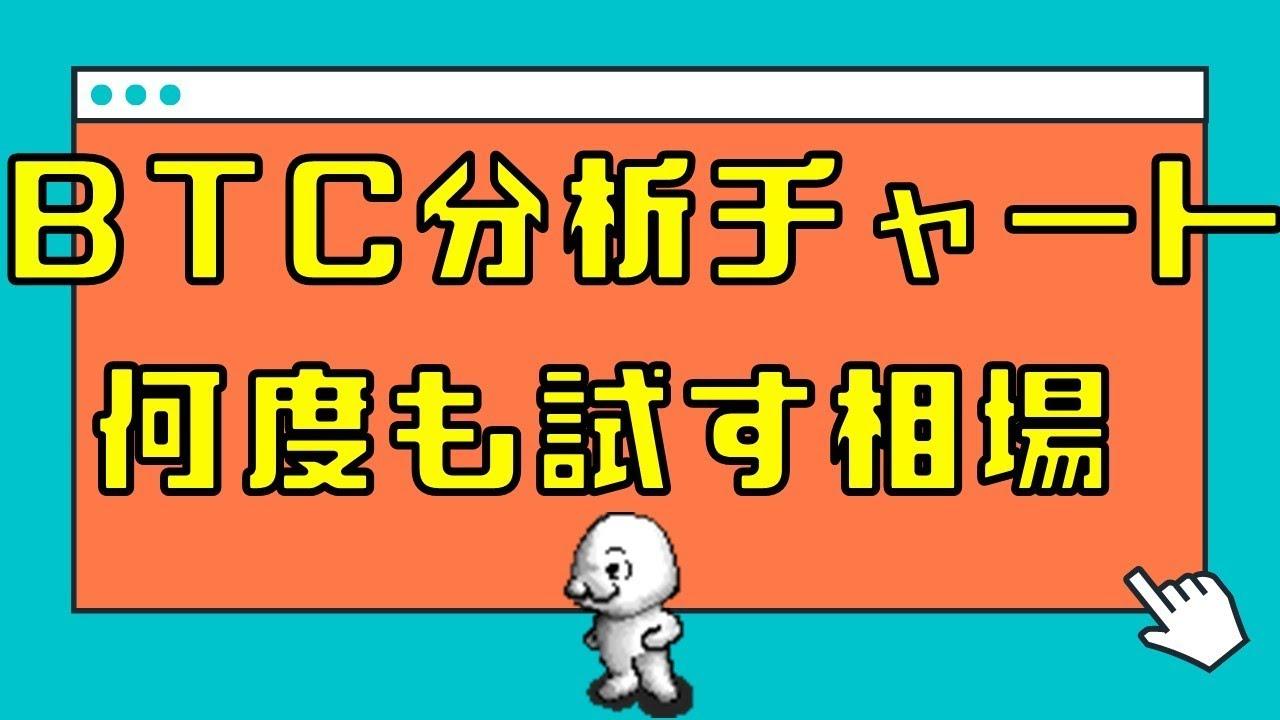 【仮想通貨 ビットコイン】BTC分析チャート なんども試す相場 14