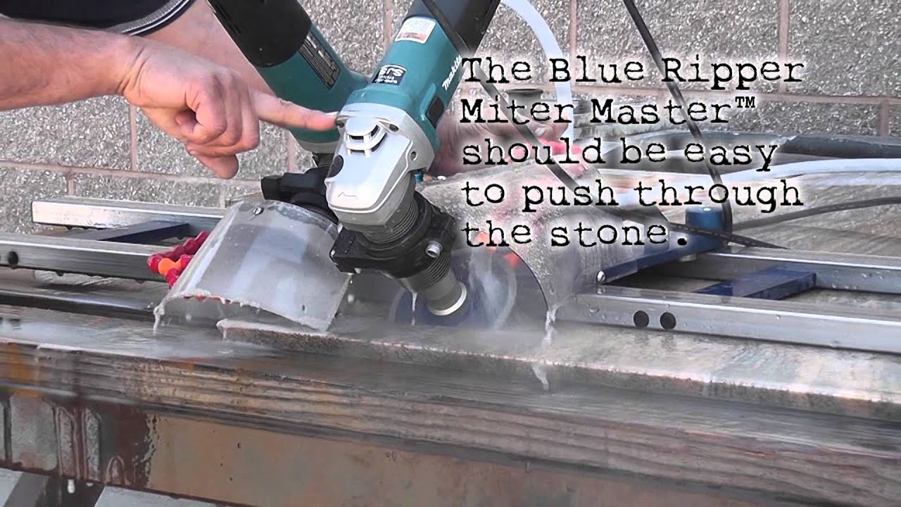 How To Make A Mitered Edge In Stone Youtube