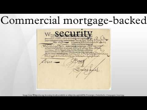 Commercial Mortgage Backed Security Youtube