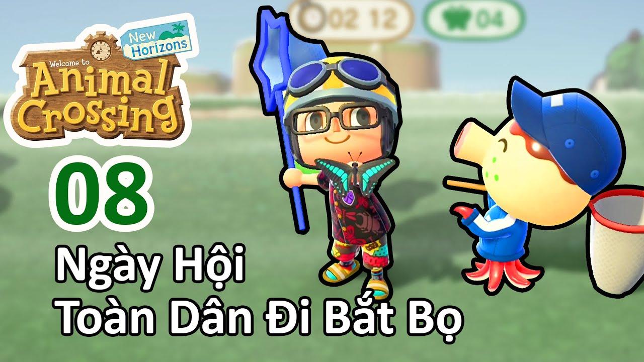Tưng bừng cả đảo Khoai đi bắt sâu bọ nhân sự kiện Bug Off trong Animal Crossing 08