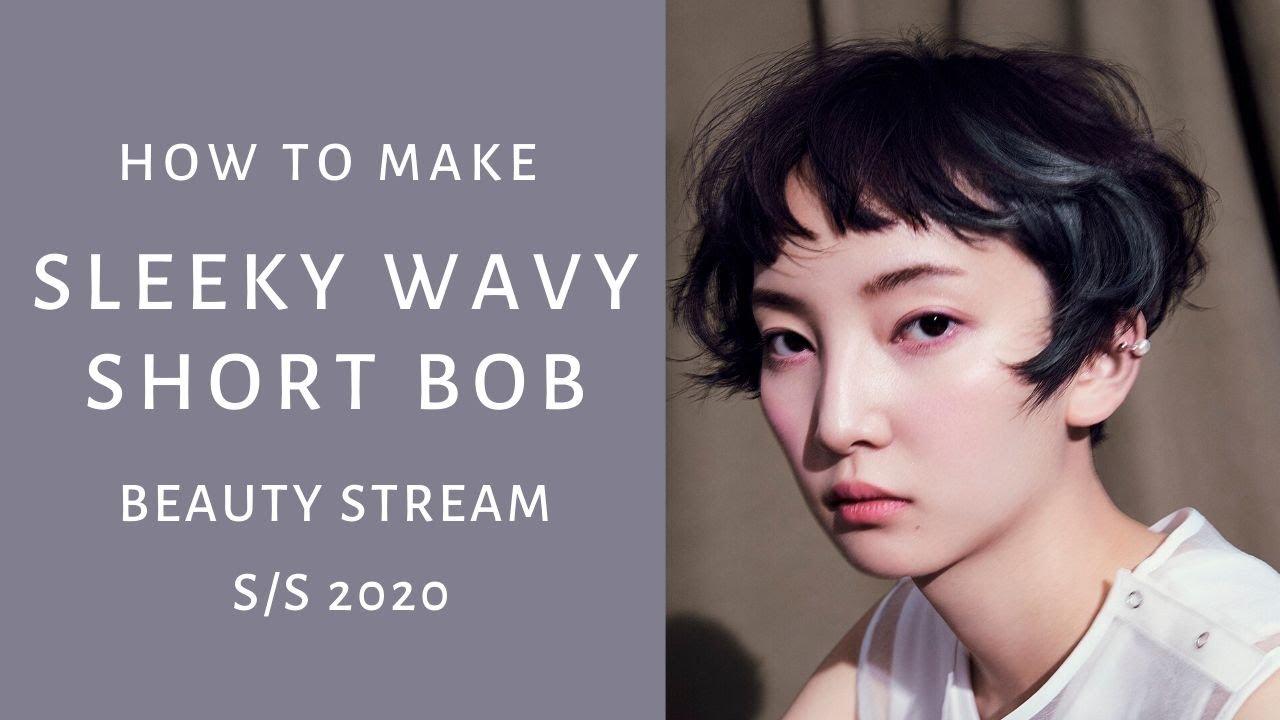 Tutorial Sleeky Wavy Short Bob Hairstyle Beauty Stream 2020 Ss Shiseido Professional Youtube
