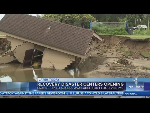 FEMA disaster relief centers to open Friday to help East Oahu and Kauai flood victims