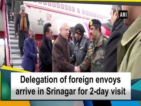 Delegation of foreign envoys arrive in Srinagar for 2-day visit