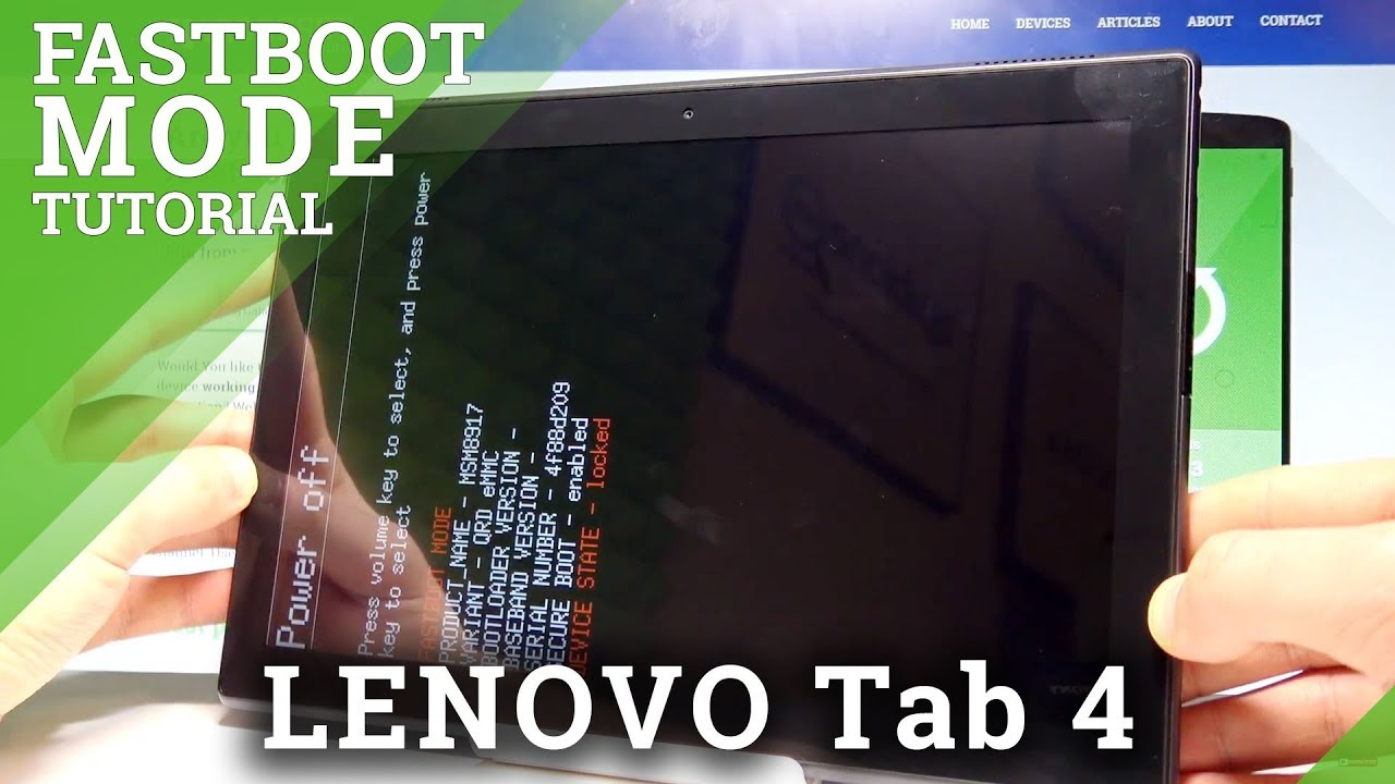 How to Enter Fastboot Mode in LENOVO Tab 4  HardReset info