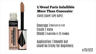 BEST DRUGSTORE CONCEALER | drugstore makeup tutorial dark skin