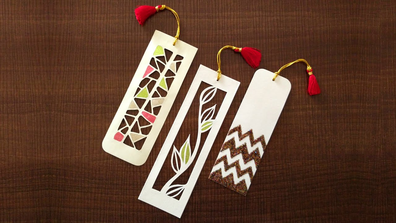 How to make bookmarks paper cutting art youtube How to make a simple bookmark