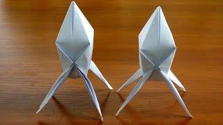 объемная оригами ракета из бумаги своими руками - Origami rocket