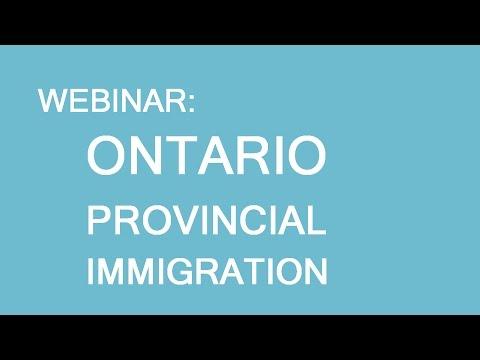 Free webinar: Ontario Provincial Nominee