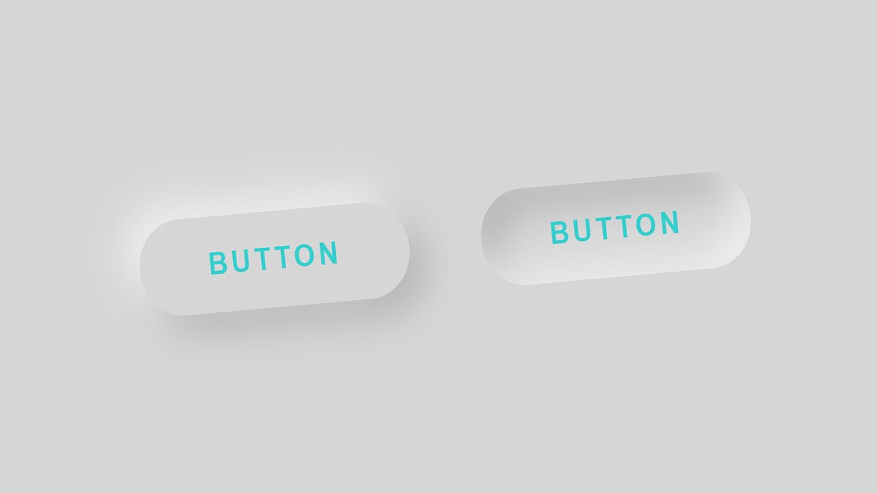 How to Create Neumorphism Button with HTML and CSS