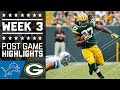 Lions vs. Packers | NFL Week 3 Game Highlights