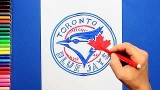 How to draw and color the Toronto Blue Jays - MLB Team Series