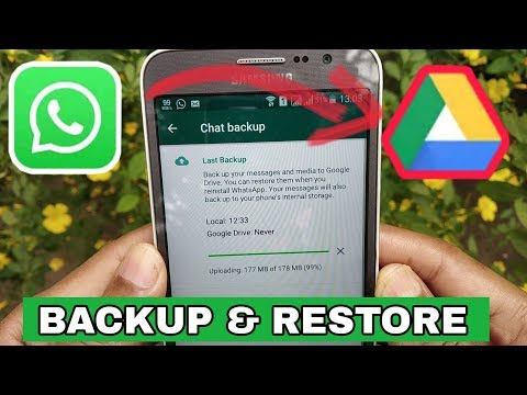 how to backup and restore whatsapp messages | whatsapp chat backup kn google drive