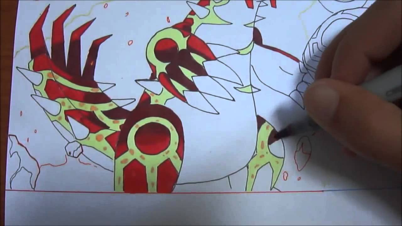 Speed drawing 1 primo groudon et primo kyogre youtube - Mega dracolosse ...