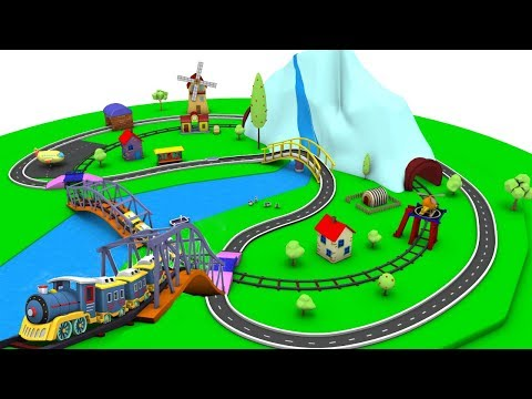 Train Cartoon - Cartoon for children - Car Cartoon for kids - Police Cartoon - Toy Factory