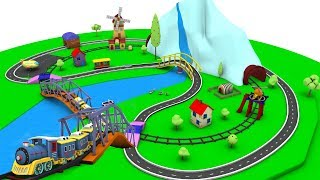 Train Cartoon - Cartoon for children - Car Cartoon for kids - Police Cartoon - Toy Factory