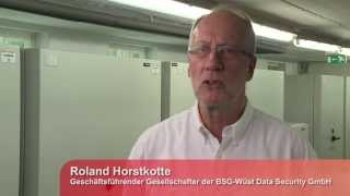 Back-Up-Datenträger-Depot  der BSG-Wüst Data Security GmbH
