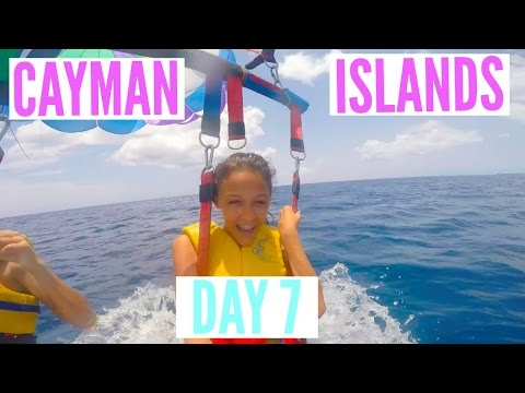 Cayman Islands Vacation Day 7 || PARASAILING & BANANA BOATING